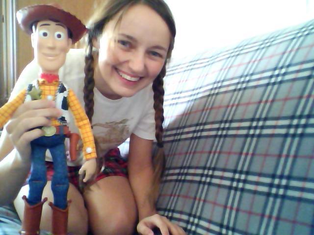 Лолита Быстрова и Вуди из Истории игрушек
